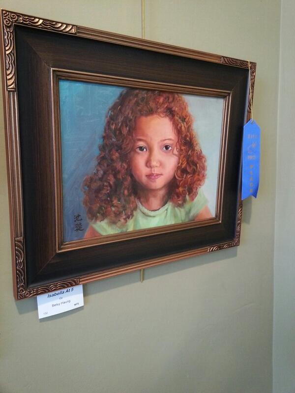 Isabella At 5 by Betty Huang (First Place in Oil)