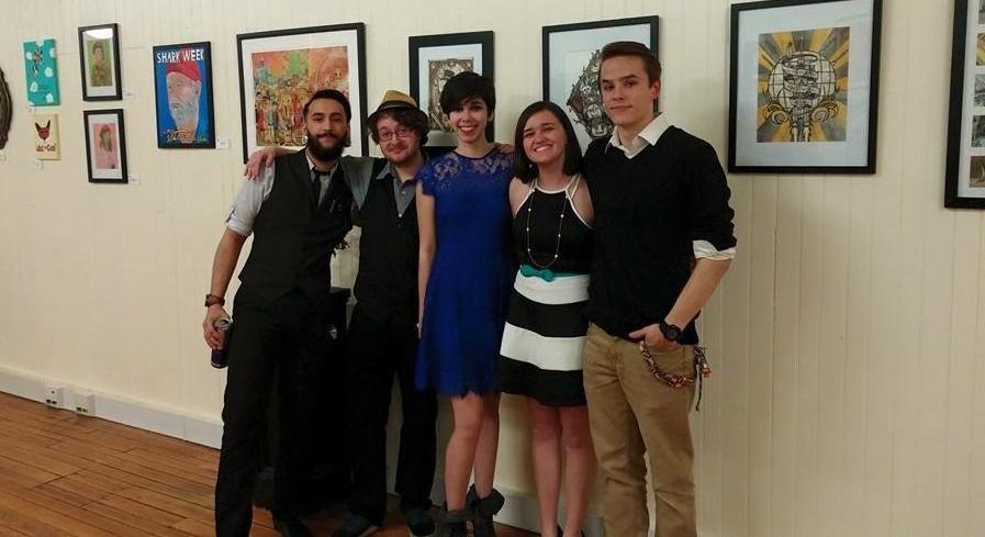 From left to right: Quinn Gethers (Bonsai Artist), Stephen Willey (Illustrator and Designer), Alicia Martinez (Illustrator and Fine Artist), Kaitlyn Casey (Fine Artist), and Luke Martin (Illustrator and Fine Artist)