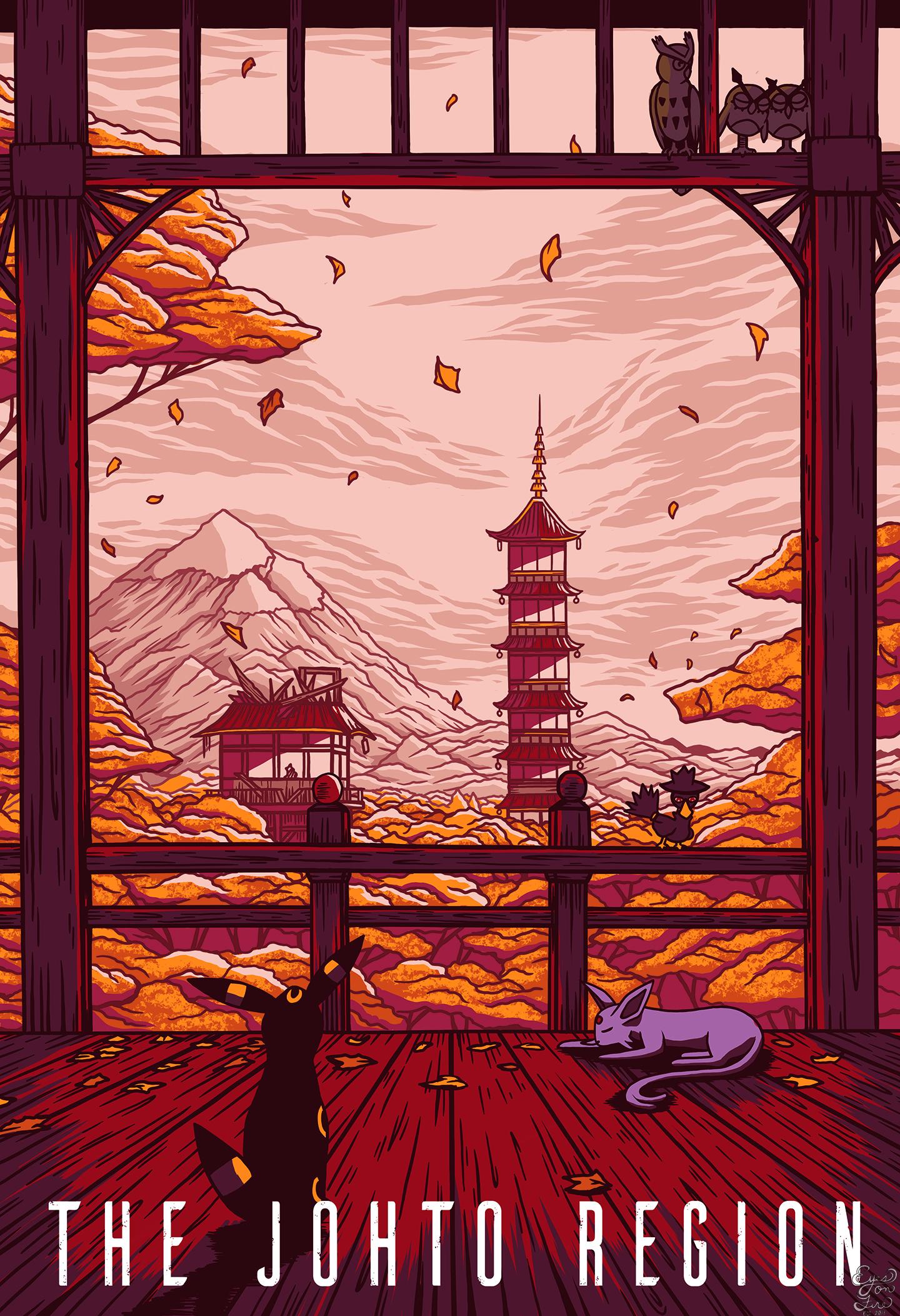 The Johto Region - Pokemon Travel Poster.jpg