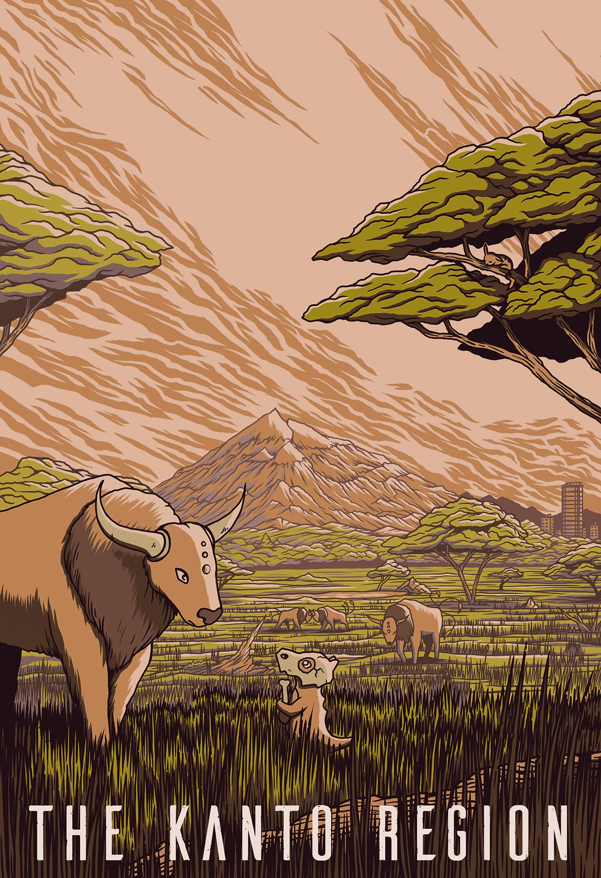 The Kanto Region - Pokemon Travel Poster.jpg