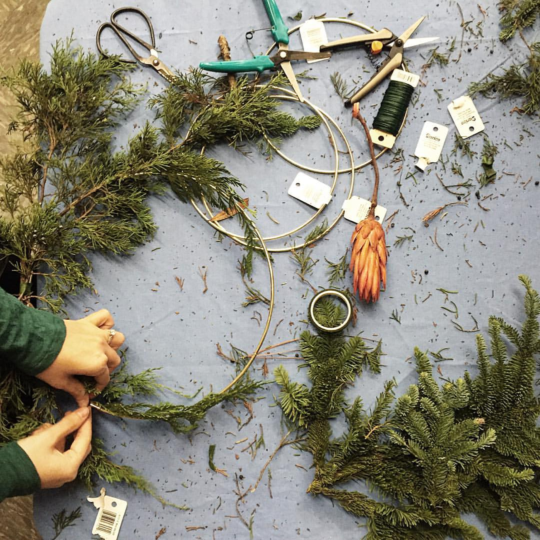 Holiday Wreath Workshop by Studio Cultivate