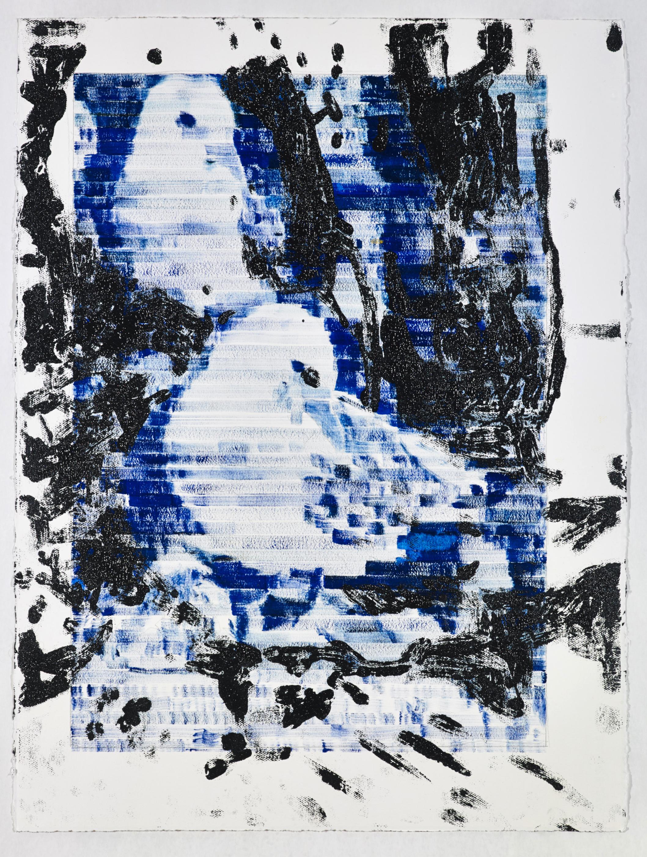 Jered Sprecher, Visit , 30 x 22, oil on paper, 2012