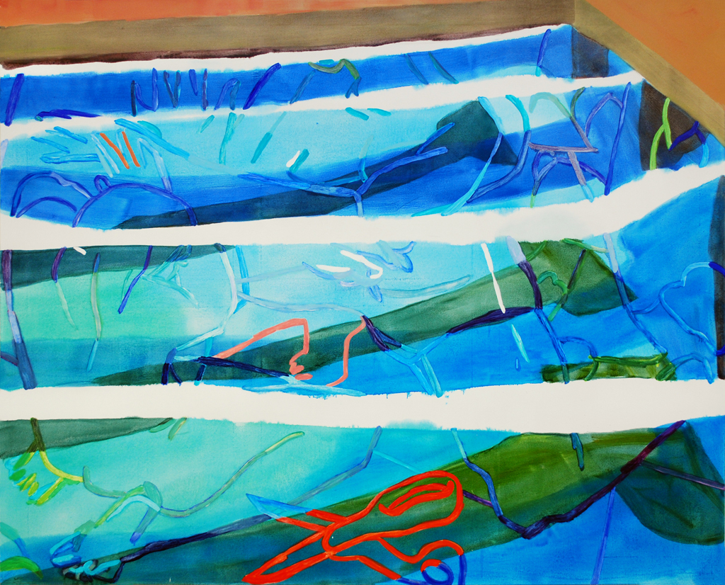 Sarah Faux |  Cut , 2015, oil on canvas, 72 x 90 inches
