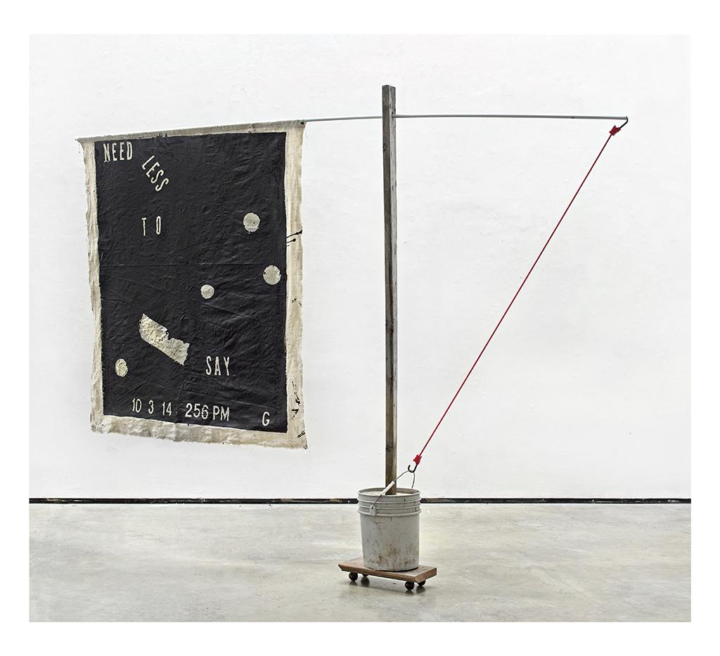 Kyle Goldbach | Need Less To Say , 2014, 96 x 120 inches