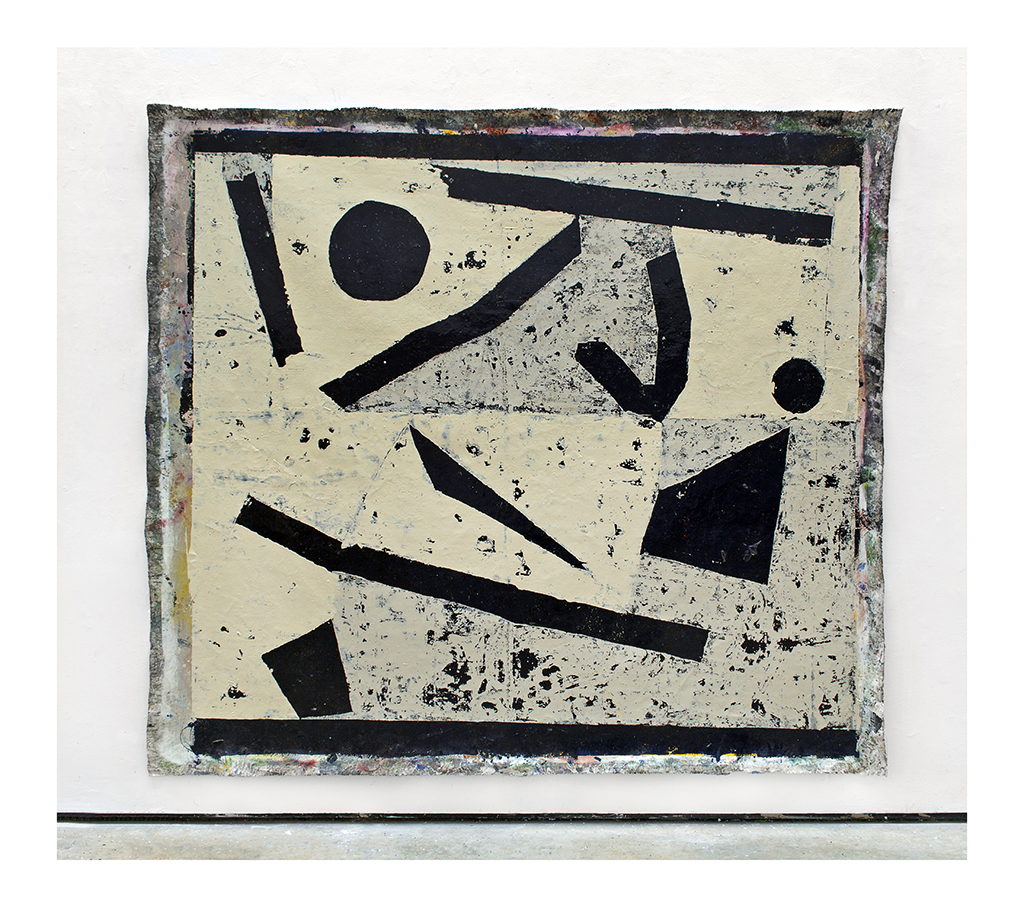 Kyle Goldbach | Untitled (Remainder) , 2014, enamel on canvas, 110 x 96 inches
