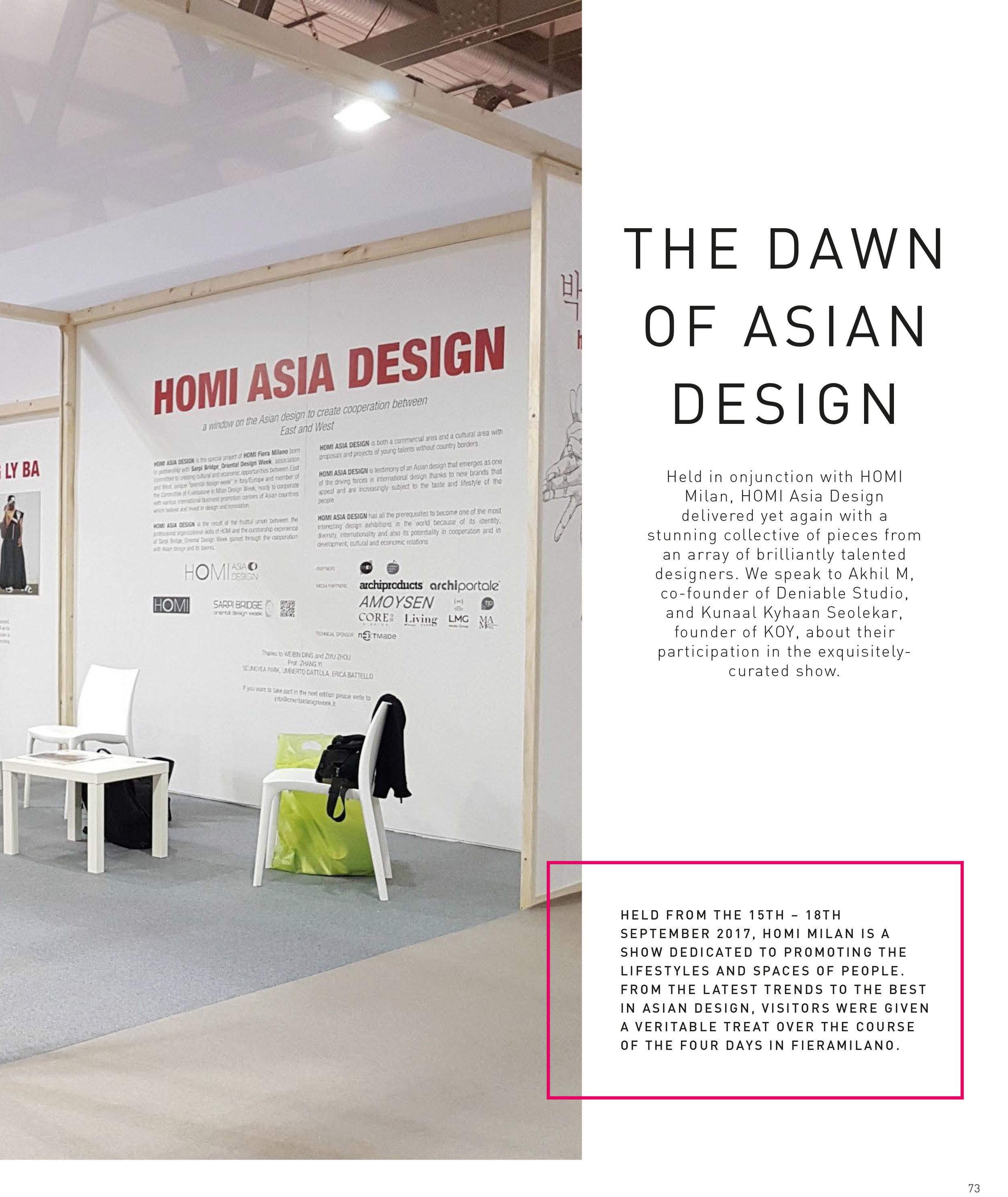 Home & Decor  |  KOY  | HOMI Milano | Asia Design