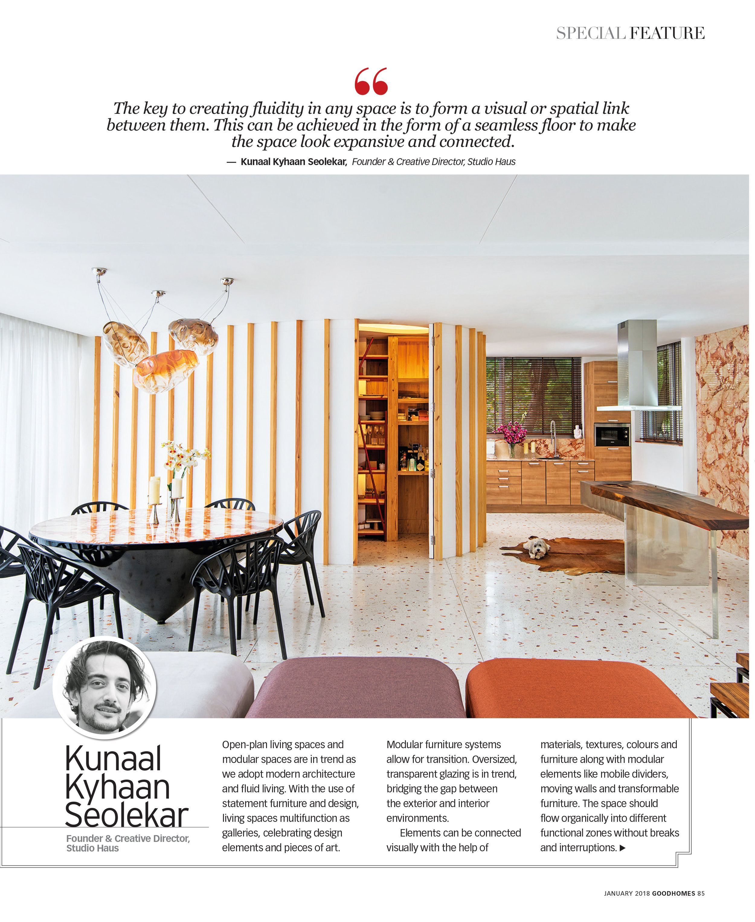 Good Homes | Special Feature | Open Living |  Kunaal Kyhaan Seolekar