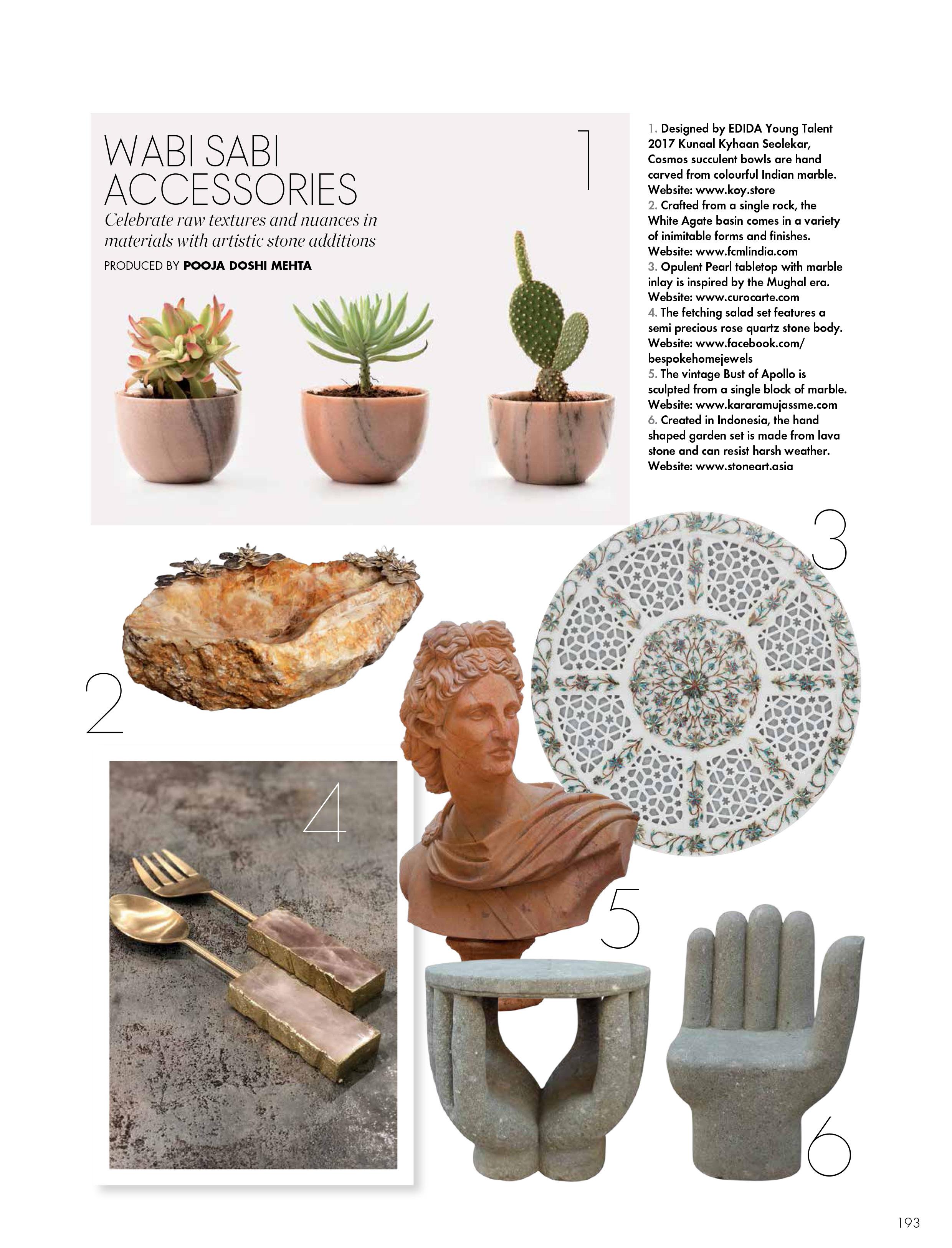 ELLE Decor |  KOY  |  Succulent Bowl