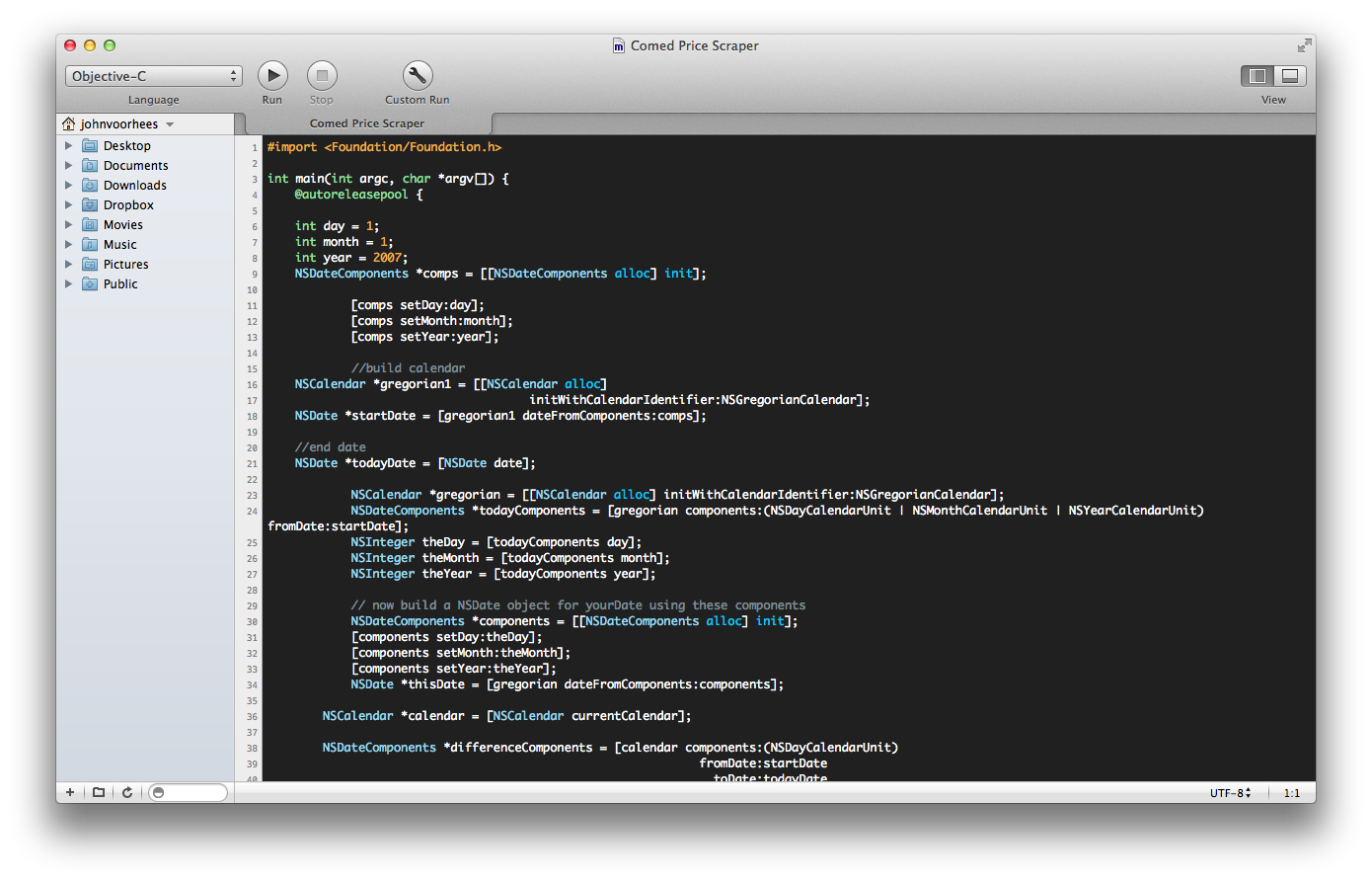 CodeRunner  is a fantastic light-weigt code editor for beginners and veterans alike