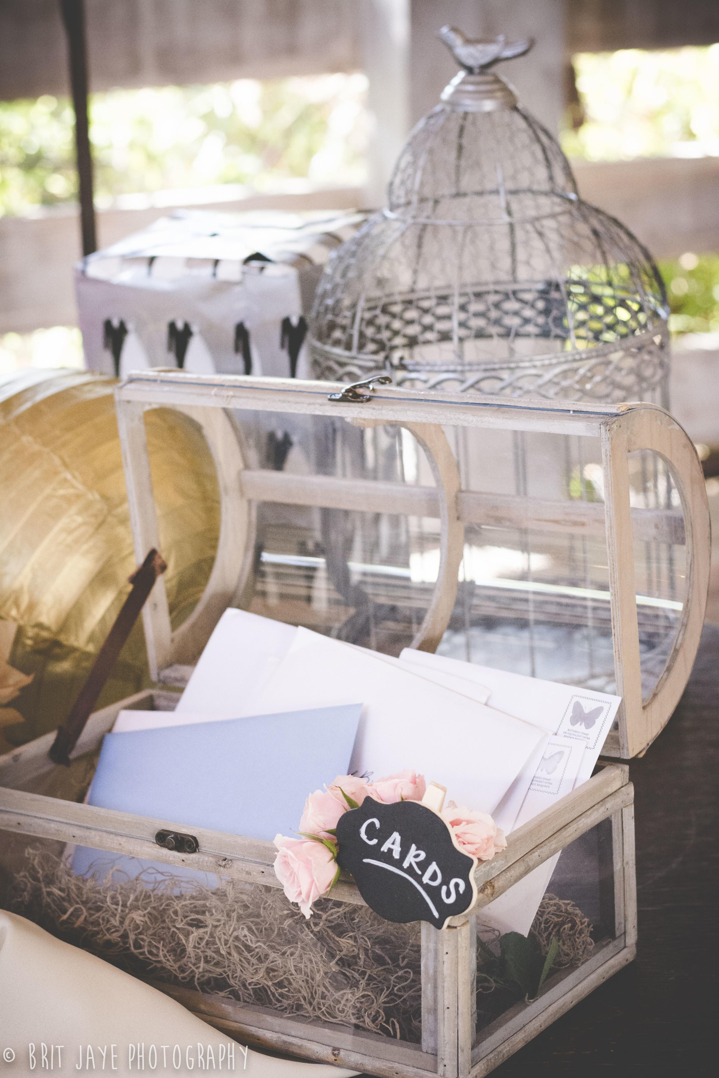 Rustic Shabby Chic Wedding Card Box