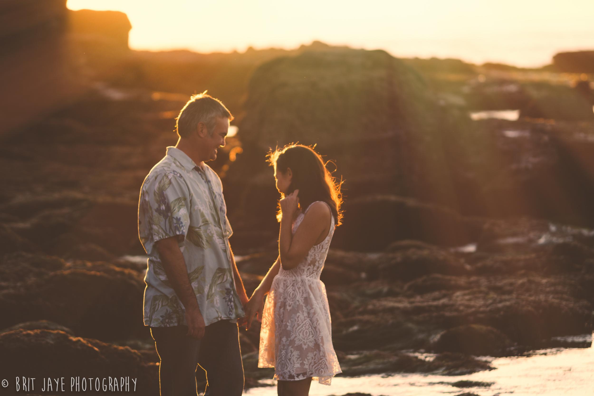 SunsetCliffs Engagement Photo
