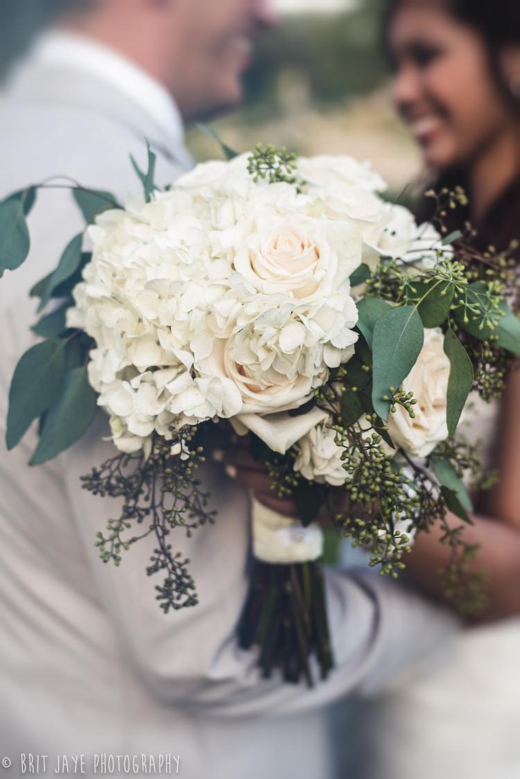 All White Boho Bouquet