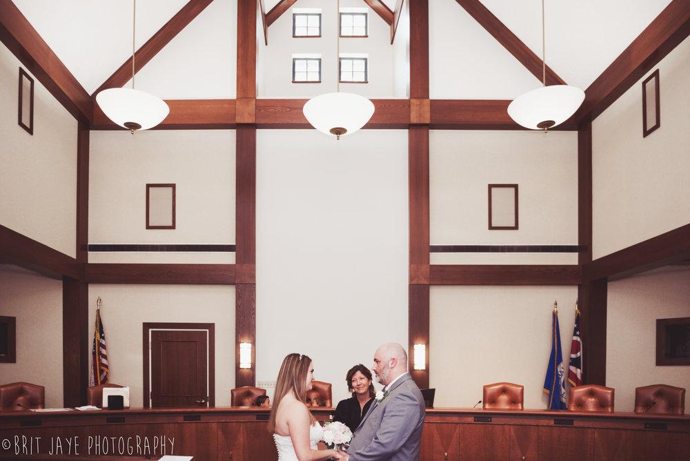Intimate Wedding at the Oakwood Municipal Court — Ohio