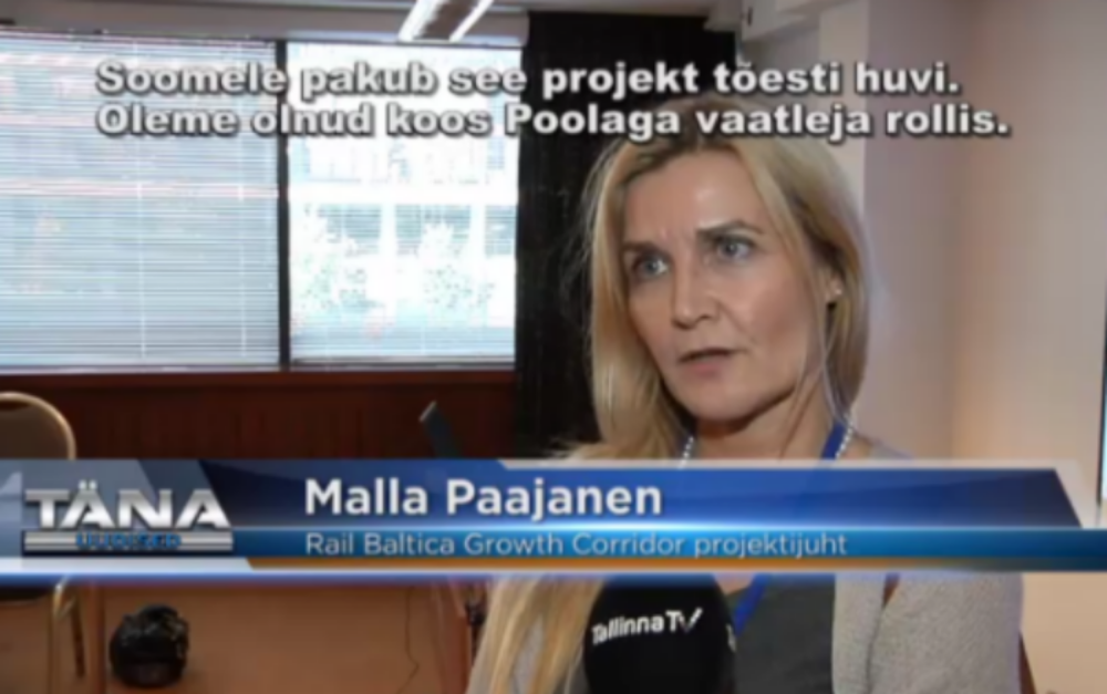 """Video news clip by Tallinn TV at tallinnatv.ee """" Liikuvusfoorumil räägiti ka Rail Balticast """""""
