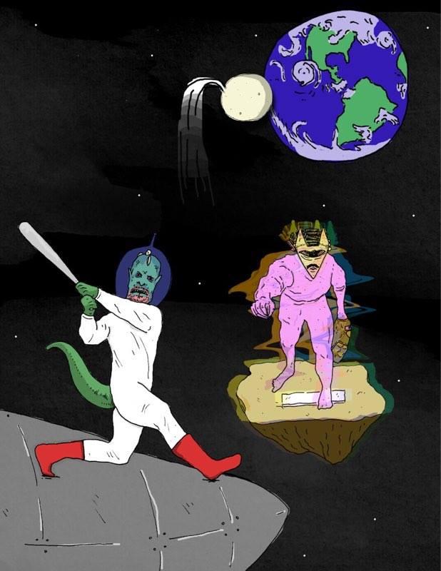 the lizard mcguire mark fertilizing a soon to be lizard earth.