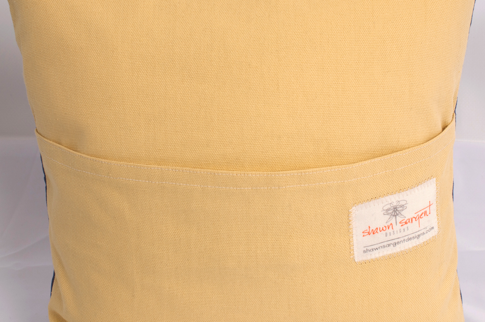 Detail of Handmade Pillow Cover (back)