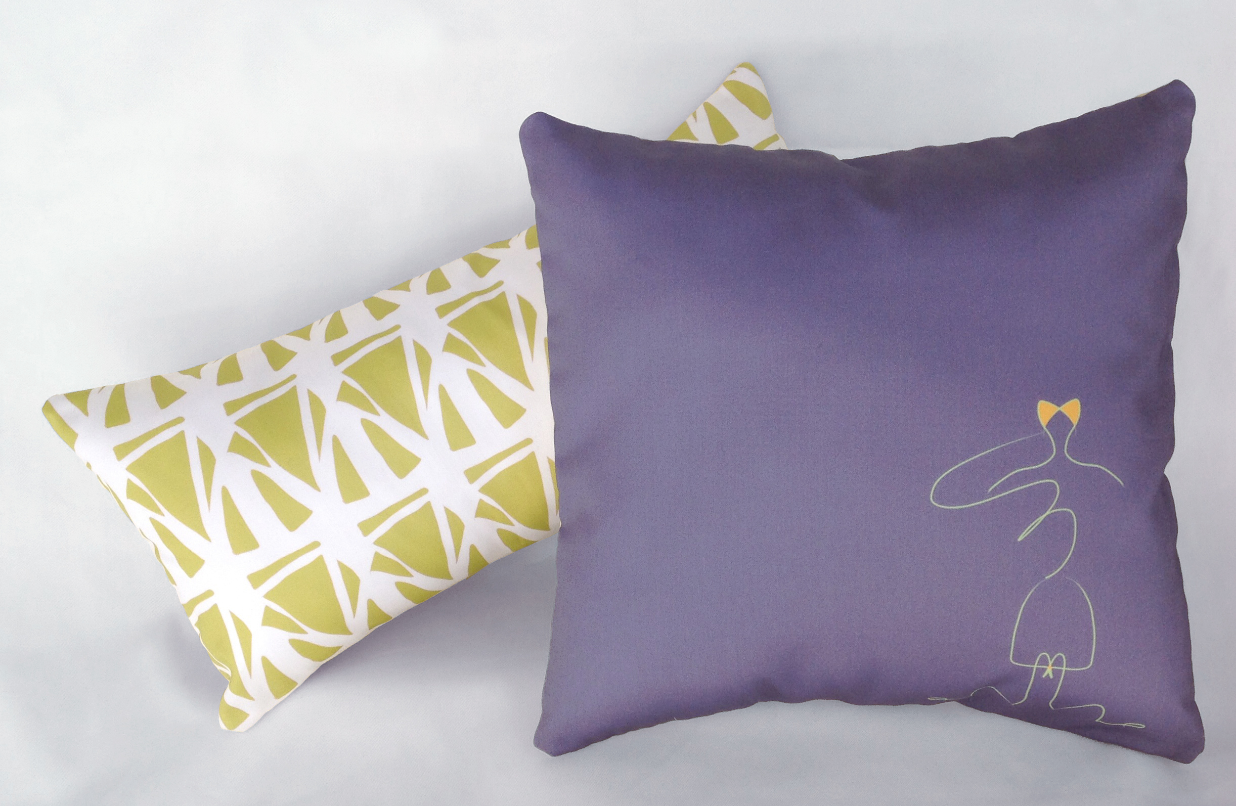 """Handmade Pillow Covers (Stained Glass, 8""""x16"""" and Army Gal, 12"""")"""
