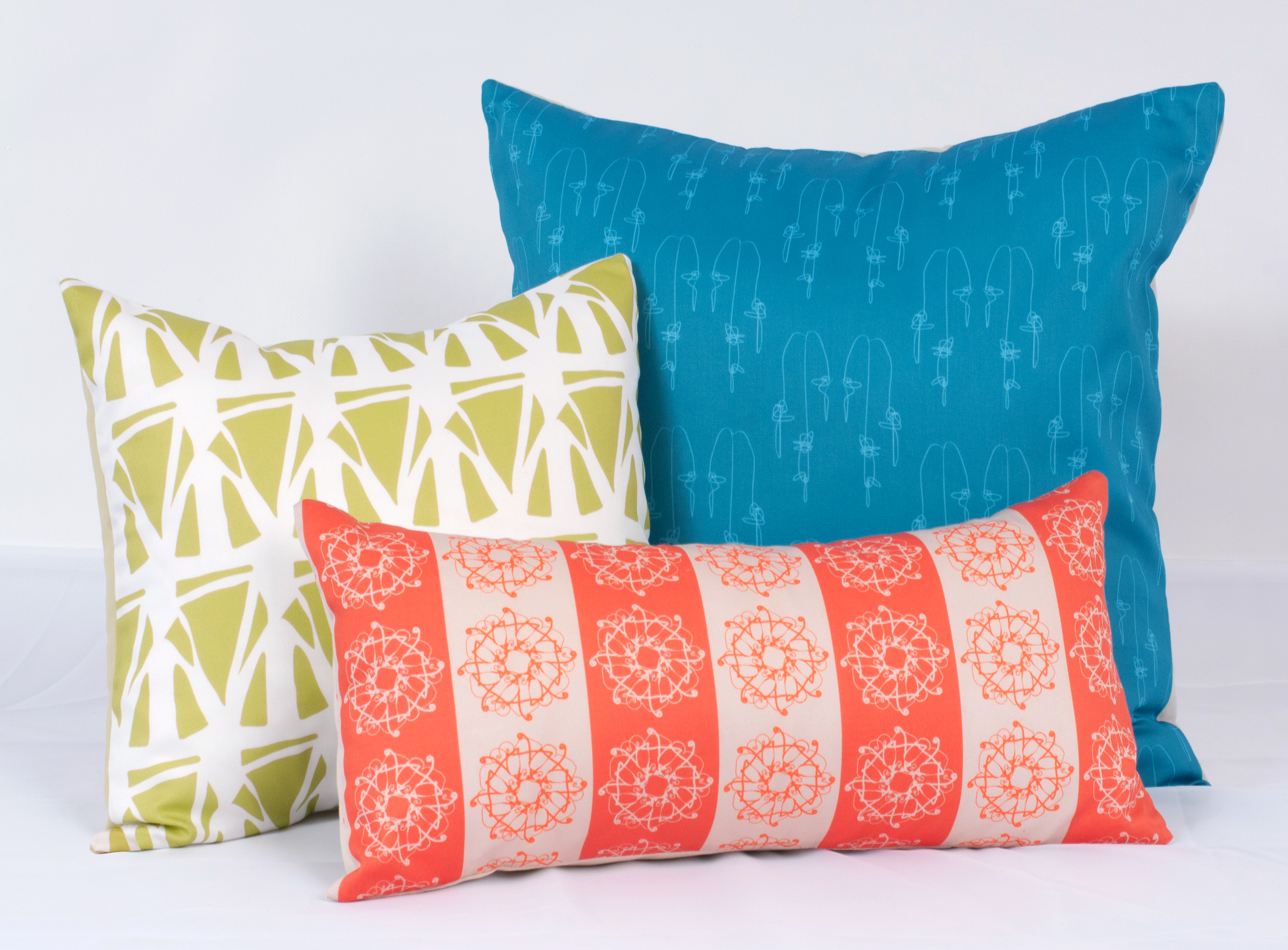 Handmade Pillow Covers (and inserts), various sizes, all original drawings and designs
