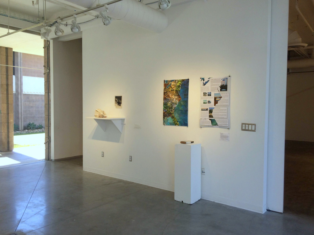Artists' book on display at Glass Box Gallery at UC Santa Barbara