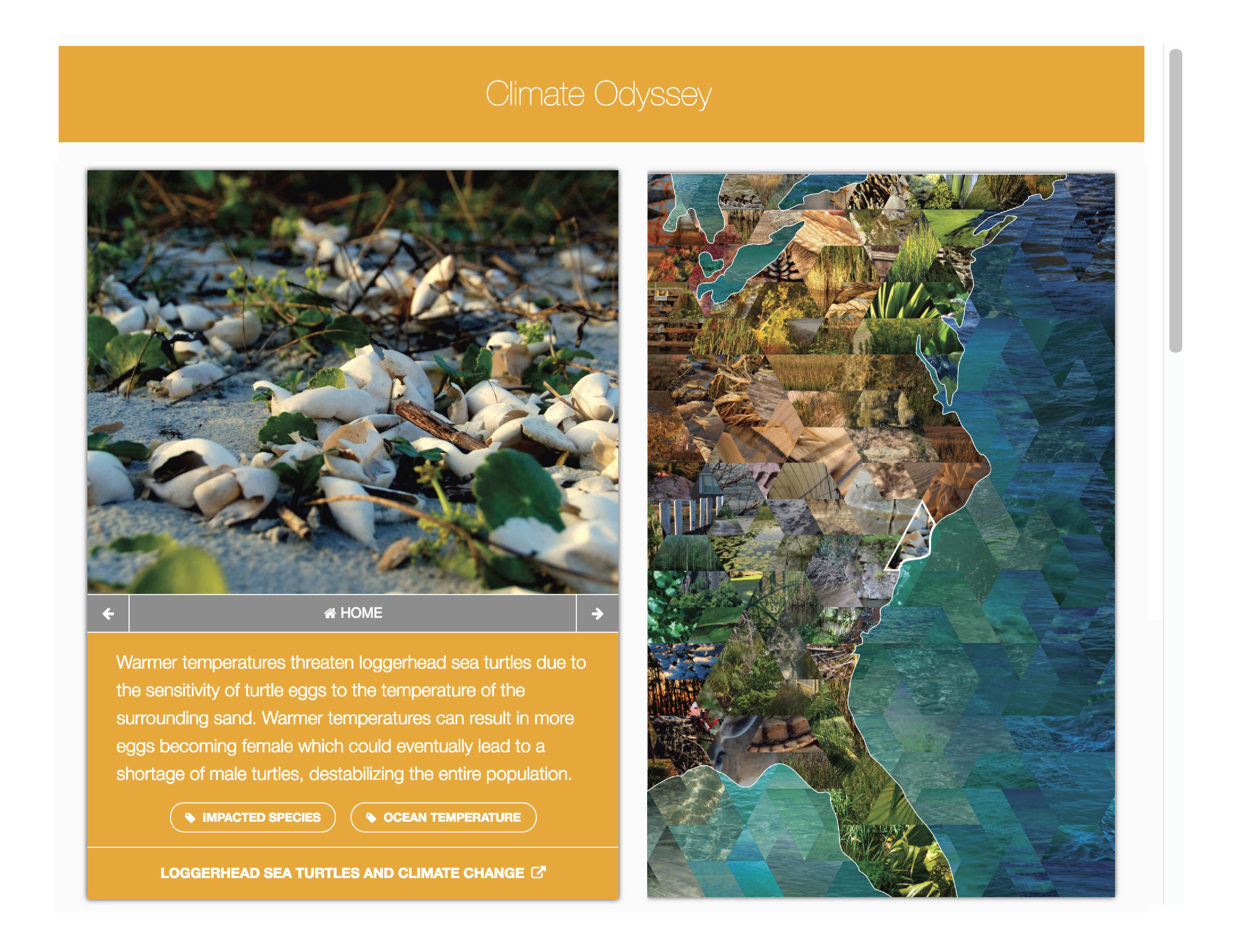 Climate Odyssey Interactive Map   (follow this link to see the full interactive map)