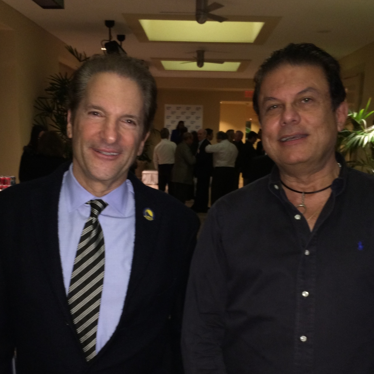 Joe Ippolito and friend Peter Guber (CEO Mandalay Entertainment, co-owner Los Angeles Dodgers, Golden State Warriors, past president Sony Pictures, Columbia Pictures)