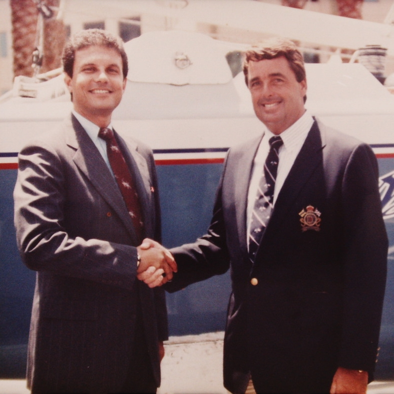 Joe Ippolito with Dennis Conno r (America's Cup sailing winner)