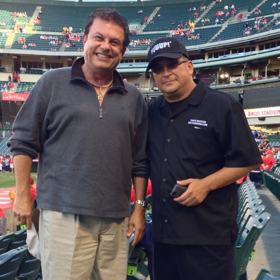 Joe's client Dave Hester  (Host of Storage Wars at Angels baseball game)