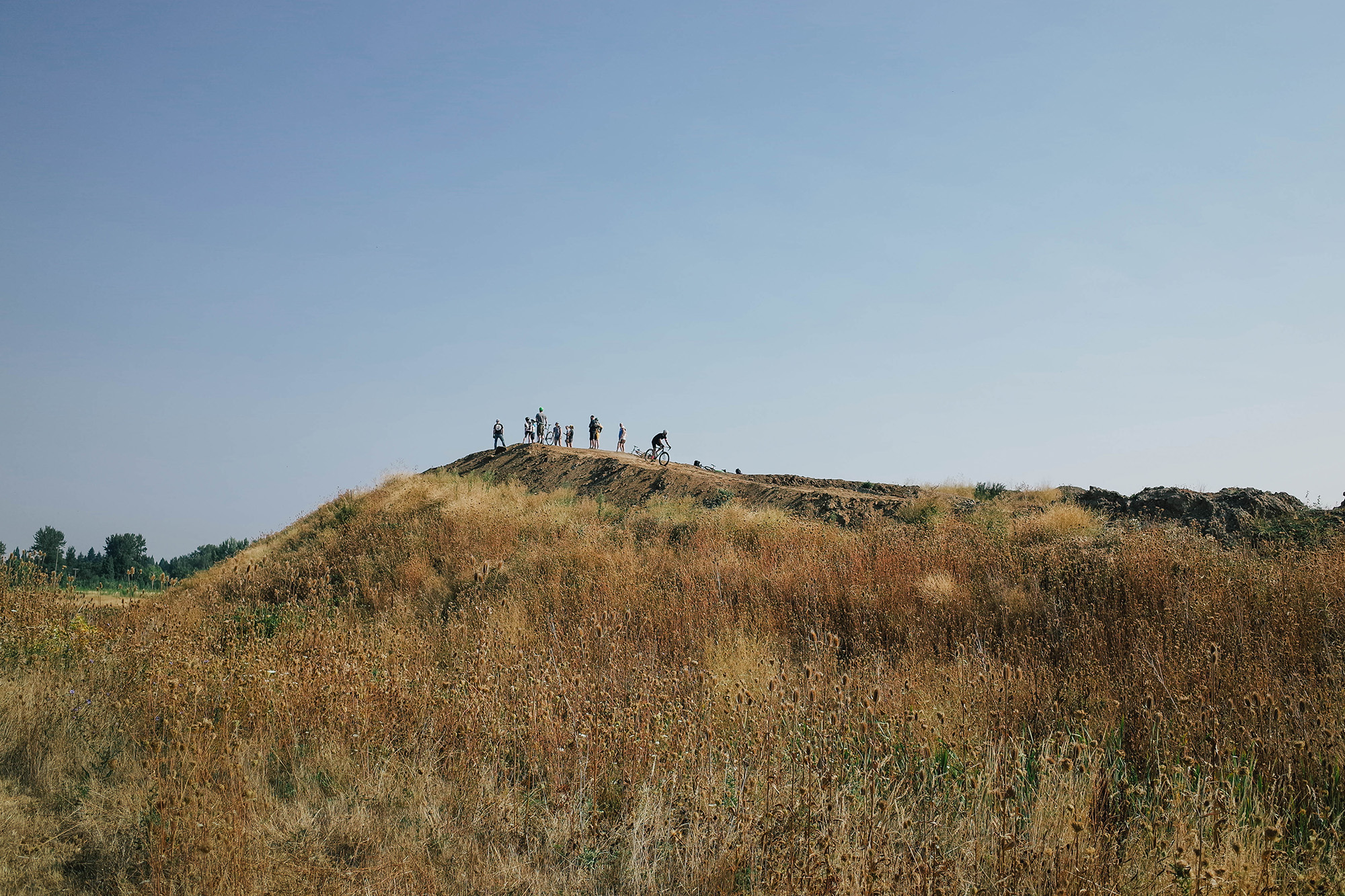 If that isn't called heckle hill, it should be. Those guys were brutal up there!