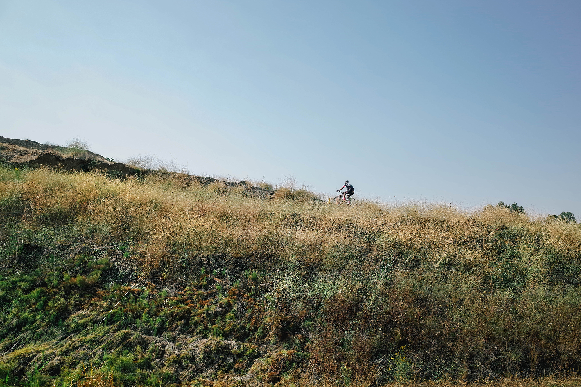 Me climbing solo.
