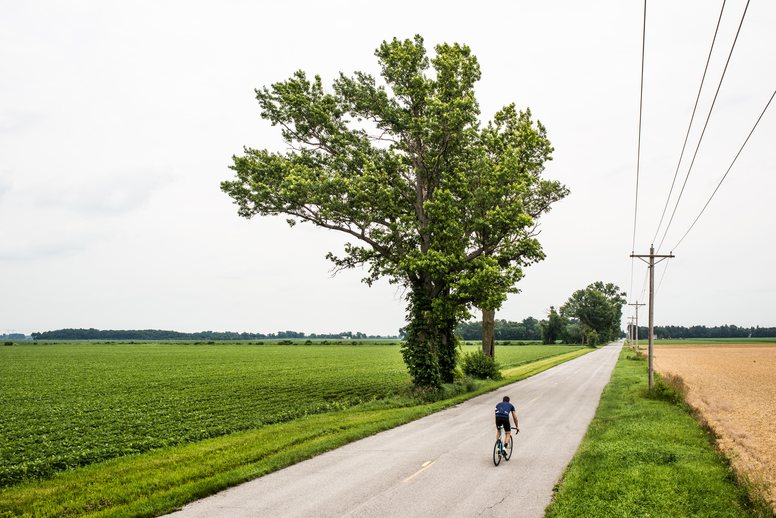 Somewhere in Ohio, testing out the drivetrain after a mid-day tweak.
