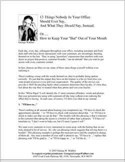 "Download the PDF: ""13 Things Nobody In Your Office Should Ever Say. And What They    Should  Say, Instead."""