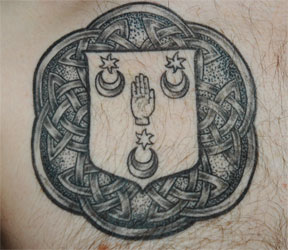 Celtic Family Crest Tattoo