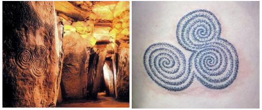 Newgrange Triple Sprirals and Tattoo by Pat Fish  - Buy Tattoo Design