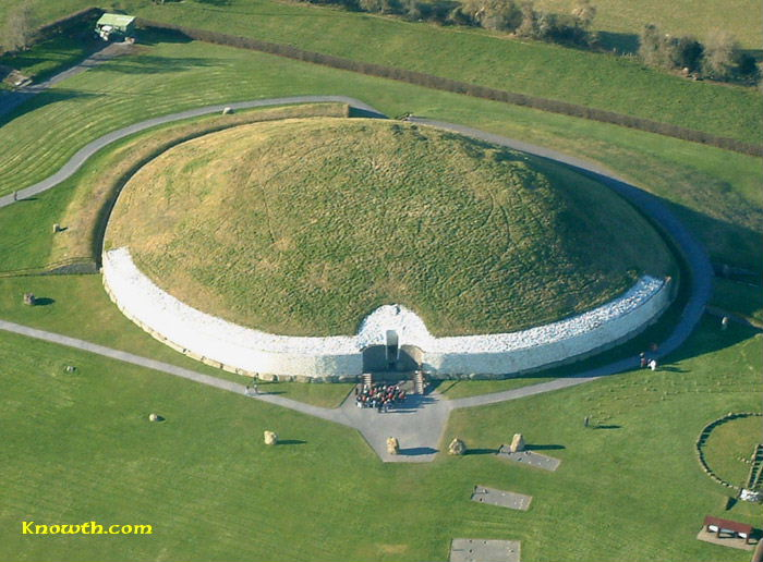 Newgrange from the air - photo from  Knowth.com