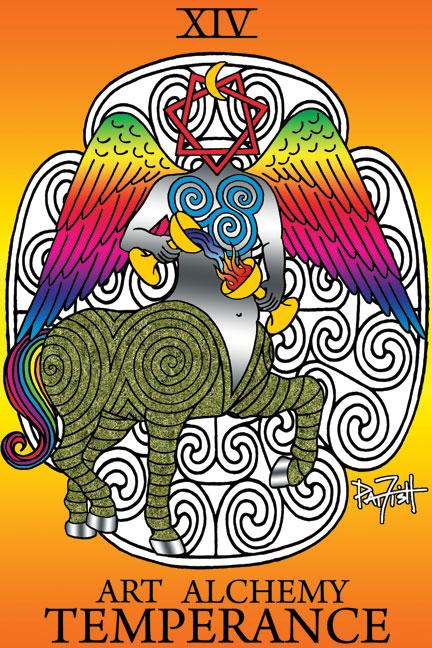 Temperance Tarot Card by Pat Fish