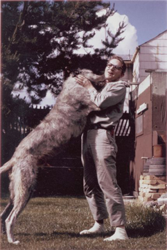Professor Grover Krantz so loved his Irish Wolfhounds that his last wish was to donate his body and theirs to science.