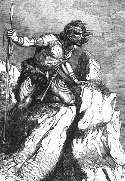 A Caledonian Pict, from John Cassell's Illustrated History of England, 1857