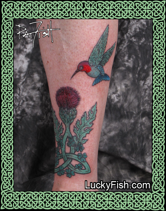 Regal Visit HummingBird Tattoo by Pat Fish