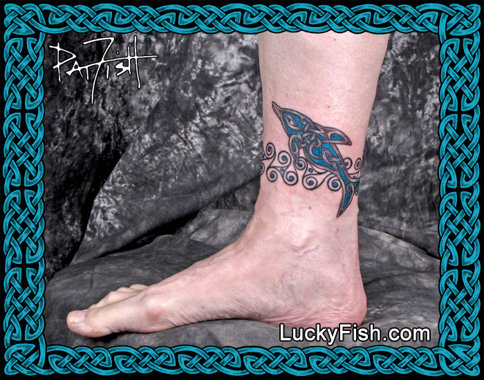 Celtic Dolphin Tattoo by Pat Fish