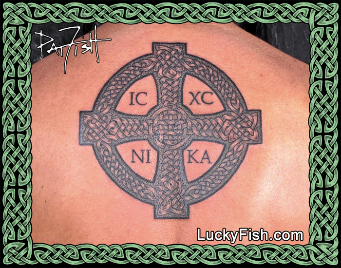 Celtic Cross of St. John Tattoo by Pat Fish