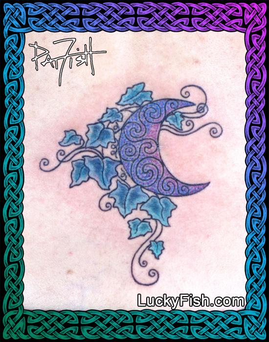 Ivy Moon Tattoo by Pat FIsh