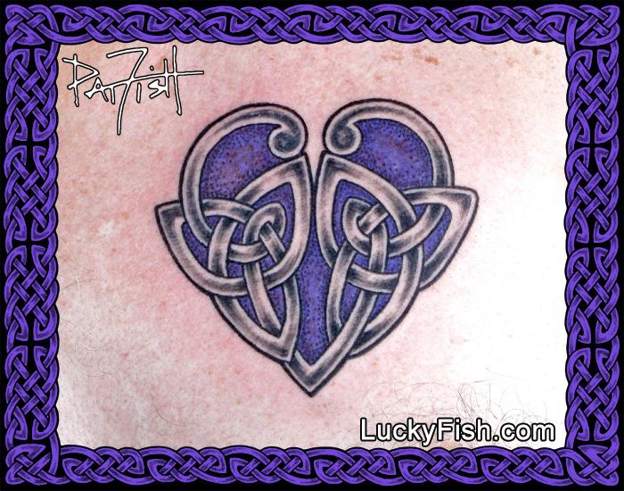 Celtic Knot 'Loyal Heart' Tattoo by Pat Fish