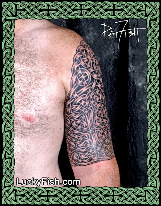 Celtic Battle Armor Tattoo by Pat Fish