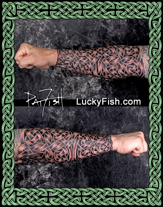 Celtic Forearm 'Gauntlet' Tattoo by Pat FIsh