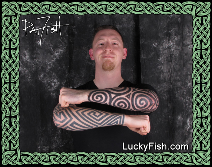 Double Pictish Forearm Sleeves by Pat Fish