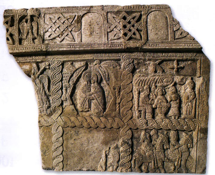12th Century Croatian Carving featuring the woven pleter pattern