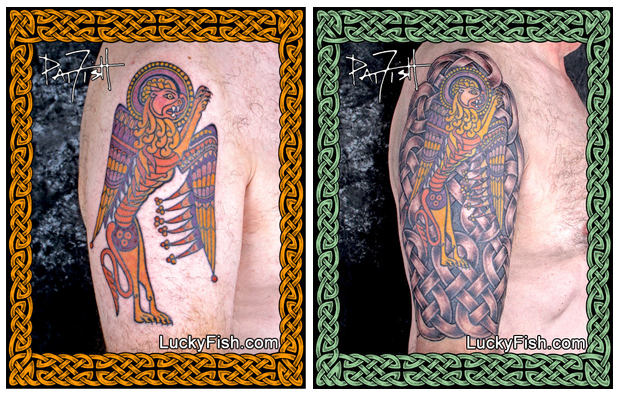 Progression of a Celtic Tattoo Sleeve by Pat Fish