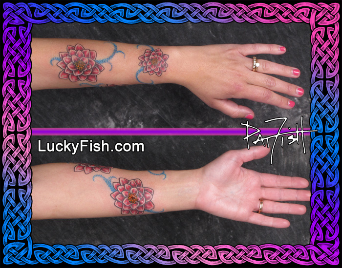 Water Lily Camouflage Tattoo by Pat Fish