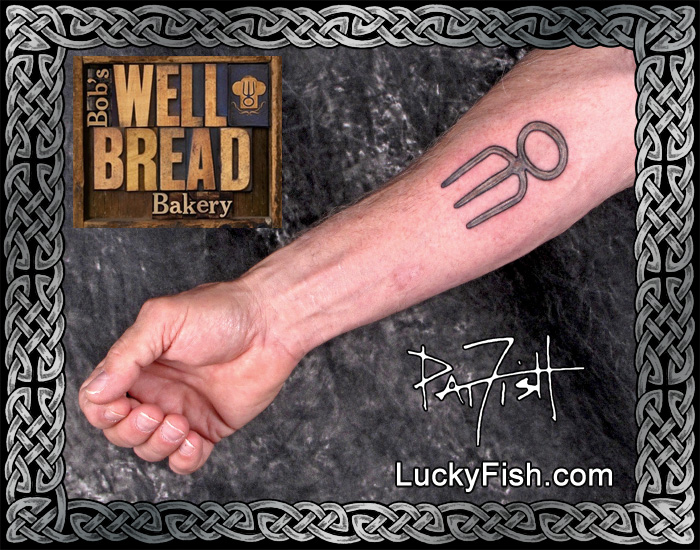 Bread Fork Tattoo by Pat Fish