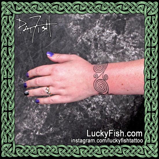 La Tene Celtic Swirls Tattoo by Pat Fish